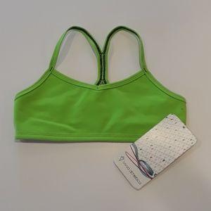Ivivva athletica neon green sports bra size 8...K8